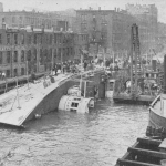 The SS Eastland sunk in the Chicago River, July 1915